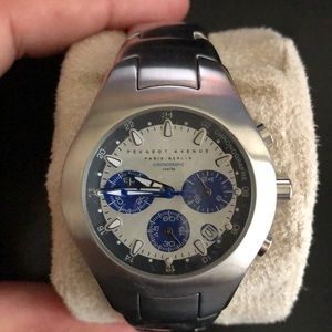 Men Peugeot silver watch